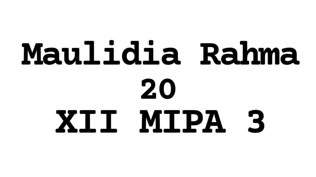 Cuplikan Video Tes Lari 2,4 Km (Maulidia Rahma_20_12 MIPA 3)