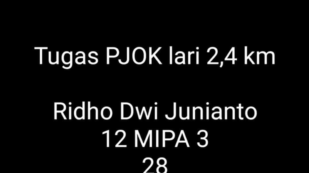 Cuplikan video lari - Ridho Dwi J, 12 MIPA 3 , 28
